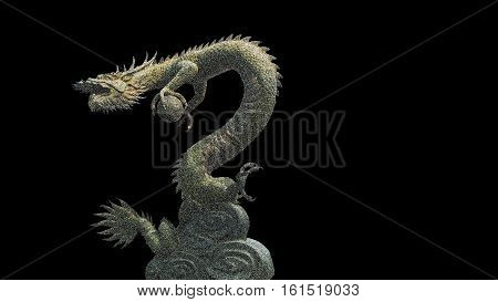 The Dragon holding a crystal ball is a symbol of goodluck.