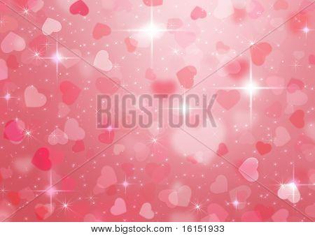 beautiful colorful heart shape background