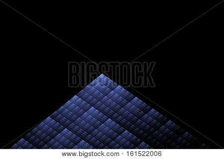 Fractal triangle on black background - digitally rendered graphic