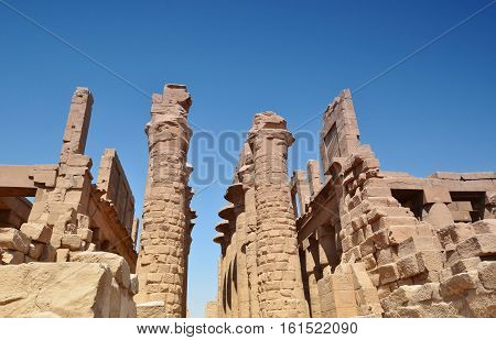 Luxor. Karnak temple is the largest temple complex of Ancient Egypt the main state sanctuary of the New Kingdom.