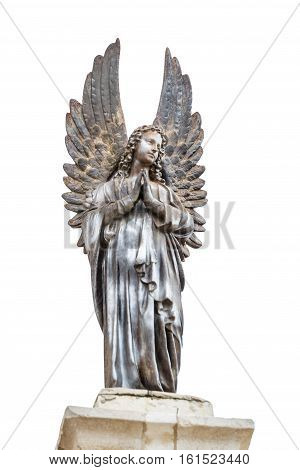 Sculpture of angel on top of the Church Of The First Miracle the Catholic Wedding Church in Cana of Galilee Israel