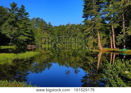 Mirror Pond near the town of Highlands, NC