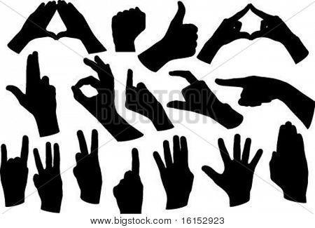 hands shape vectors