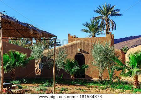 Traditional Clay Houses, Berber Village In Atlas Mountains, Morocco