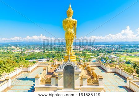 Buddha image in Wat Phra That Khao Noi Temple at Nan, Thailand.