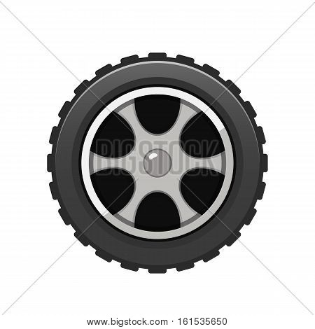 Vector Car Tire icon auto wheel icon isolated on white background.