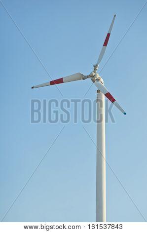 Wind turbine - renewable energy,wind turbine in blue sky