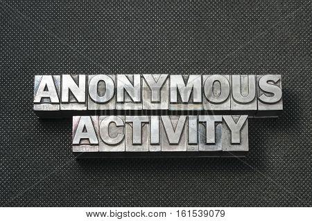 Anon Activity Bm