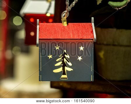 image of Christmas toys in the form of a New Year's house