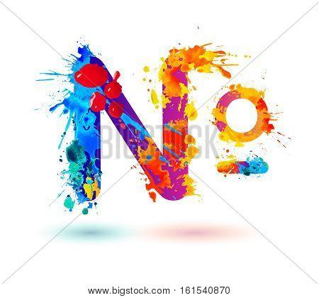 Number Sign (no) Of Splash Paint