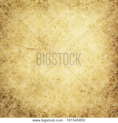 Aged and yellowed paper background. Vintage paper texture for the design.