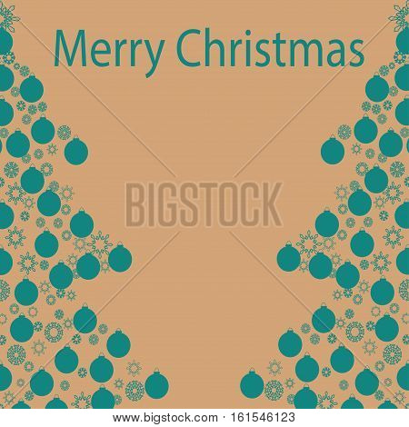 Christmas card background. New year vector illustration.