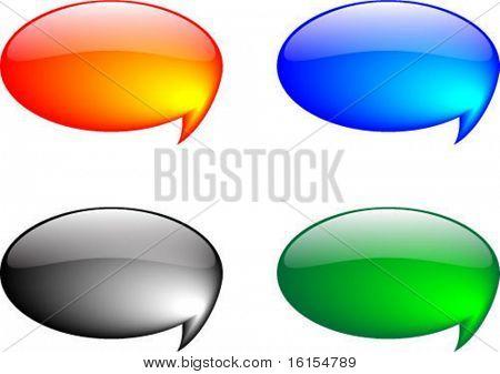 Four 3d tag - vector illustration