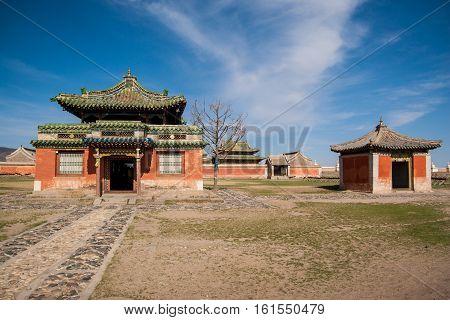 Erdene Zuu - Buddhist monastery in Mongolia. Karakorum - old capital of Genghis Khan empire
