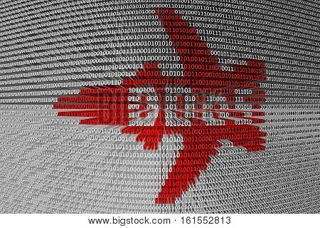 DDoS in the form of a plane 3D illustration