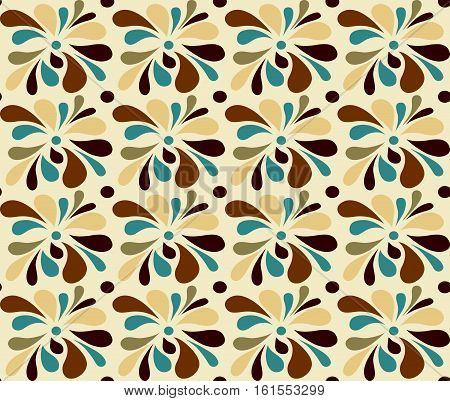 Abstract seamless ornamental pattern in harmonious colors