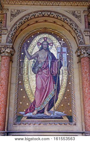 Jesus Christ mosaic Mirogoj Arcade Zagreb Croatia
