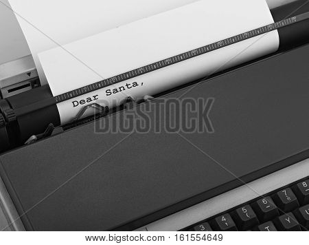Typewriter concept of Online News Dear Santa