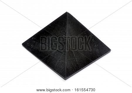view of black pyramid - mineral Shungites