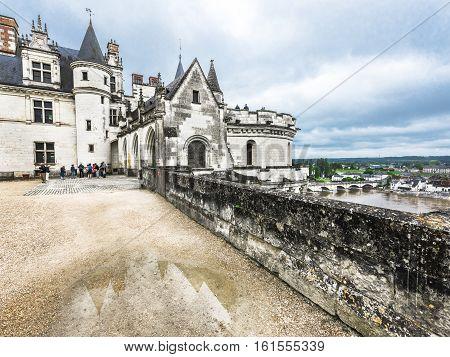 Amboise, France - June 2016: View on Amboise castle
