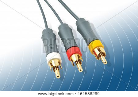 High Quality Rgb Coax Cable, Tv, Video - Audio Cable. Composite