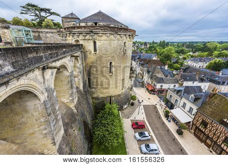 Amboise,France-June 2016: View on Amboise town from the castle