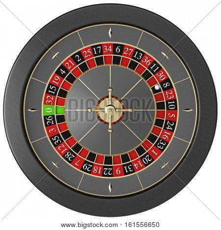 modern casino roulette 3d rendering