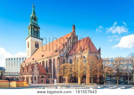 The Church Of Santa Maria Marienkirche In Berlin