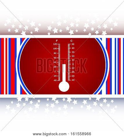 Thermometer web icon button, flat web icon