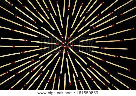 Complex Star Design With Matches, Isolated
