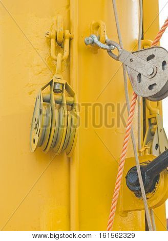 the Yacht Pulley Block ready for work