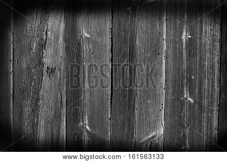 The old wood texture with patterns, black and white tone