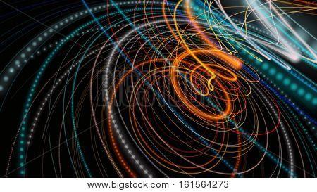 Fantastic And Futuristic Particle Stripe Background Design Illustration