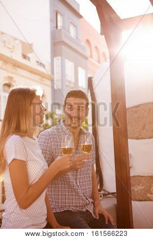 Good Looking Young Couple Enjoying Some Beer