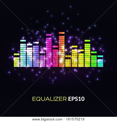 Abstract Bright Image Of Musical Equalizer.