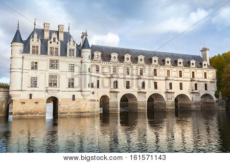 Chenonceau, France. Medieval Castle, Loire Valley