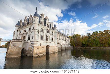 Chateau De Chenonceau On The River, France