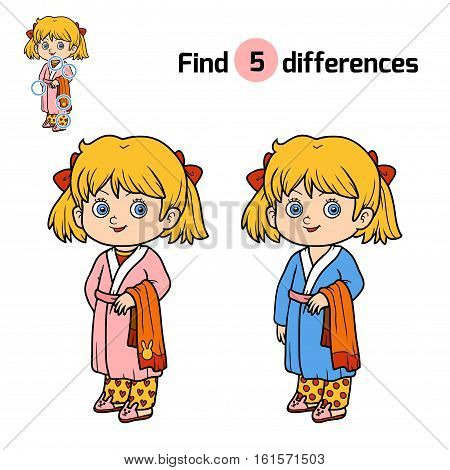 Find Differences For Children, Girl