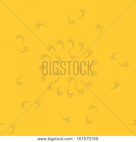 Cashmere floral fractal yellow orange brown background