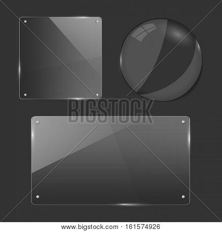 Glass Shapes Illustration
