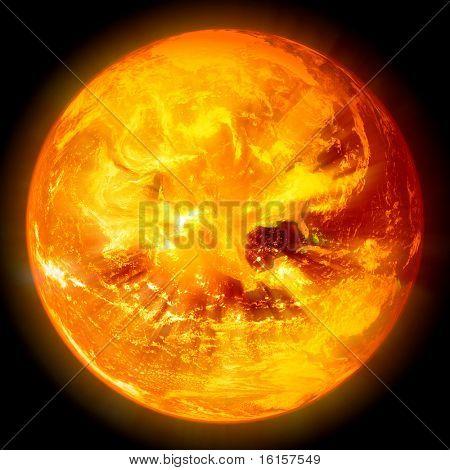 explosion of sun