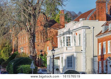 Georgian architecture in Farnham on the fringes of Surrey in the UK