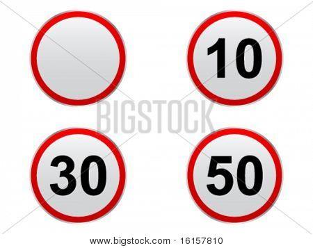 speed limitation sign