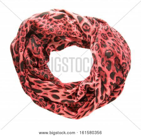 Scarf Isolated On White Background.scarf  Top View .orange Scarf .red Scarf In A Black Spot