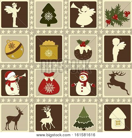 Set of Christmas cute elements in vector