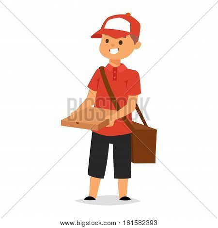 Courier delivery boy character vector courier occupation carrier
