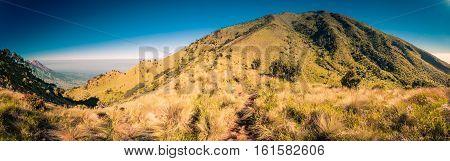 Mountainous Landscape In Indonesia
