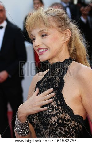 Arielle Dombasle attends 'The Last Face' Premiere during the 69th annual Cannes Film Festival at the Palais des Festivals on May 20, 2016 in Cannes, France.