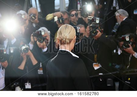 Actress Charlize Theron attends 'The Last Face' Premiere during the 69th annual Cannes Film Festival at the Palais des Festivals on May 20, 2016 in Cannes, France.