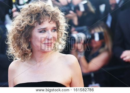 Valeria Golino attends 'The Last Face' Premiere during the 69th annual Cannes Film Festival at the Palais des Festivals on May 20, 2016 in Cannes, France.